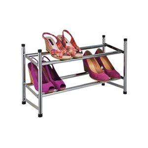Design SCHUHREGAL mit 2 Etagen ? 2 x Ablageböden für Schuhe  ? Auf diese Schuhablage, die sich ganz einfach montieren lässt, passen bis zu 12 Paar Schuhe.