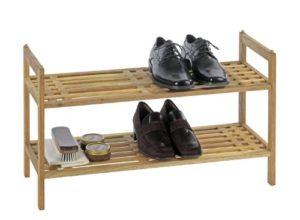 WENKO 18616100 Regalsystem Norway ? Im Schuhregal aus der Serie NORWAY mit zwei Ablageflächen finden Schuhe auf Anhieb eine dekorative Abstellmöglichkeit ?  2 x Fachböden ? Das Regal bietet Platz für 6 Paar Schuhe.