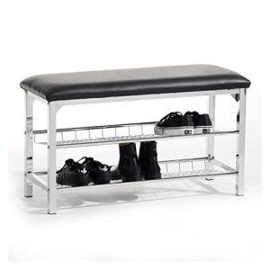 Sitzbank Garderobenbank Schuhbank INA ? bequem gepolsterte Sitzfläche ? Unter der Schuhbank bieten 2 Regalfächer Platz für circa  8 Paar Schuhe, sodass Sie Ihre Lieblingsschuhe immer griffbereit haben.