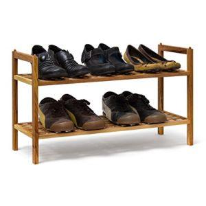 Relaxdays Schuhregal ? Mit 2 Böden ? 2 x Etagen mit jeweils circa  3 Paar Schuhe Platz finden.